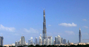 This is a photo showing the Burj Dubai and how...